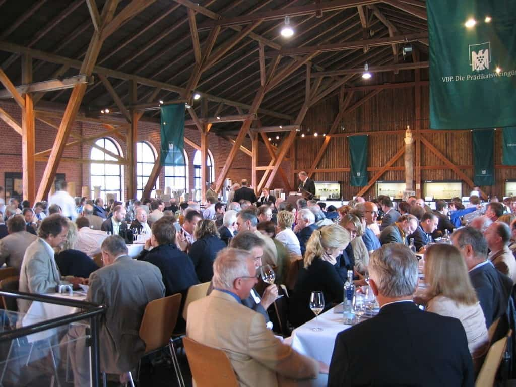 Wine auctions around the world, such as this one in Germany, attract hundreds of bidders, making it difficult for collectors to buy lauded wines at a fair price. Photo Credit: Tomas er