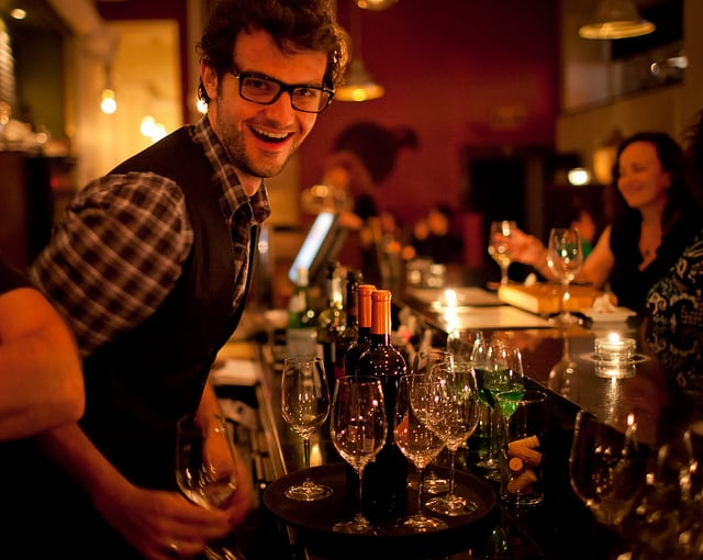why sit at the wine bar