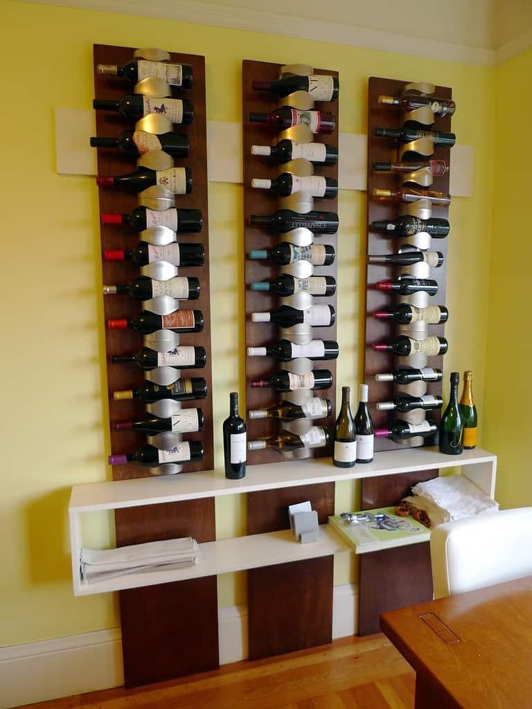bottle wall storage racks wine home mountable furniture shelving rack oypla