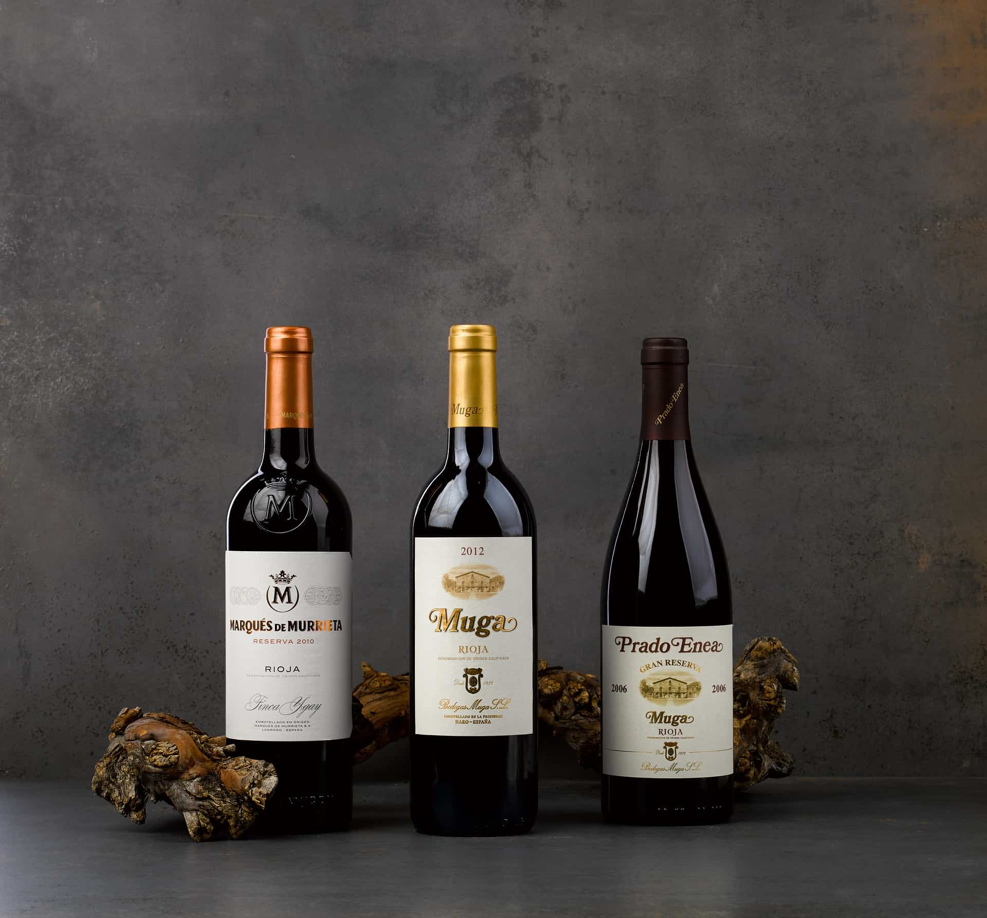 Aging Rioja wine from different vintages