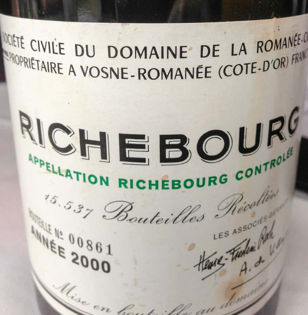 Domaine de la Romanee-Conti Richebourg label
