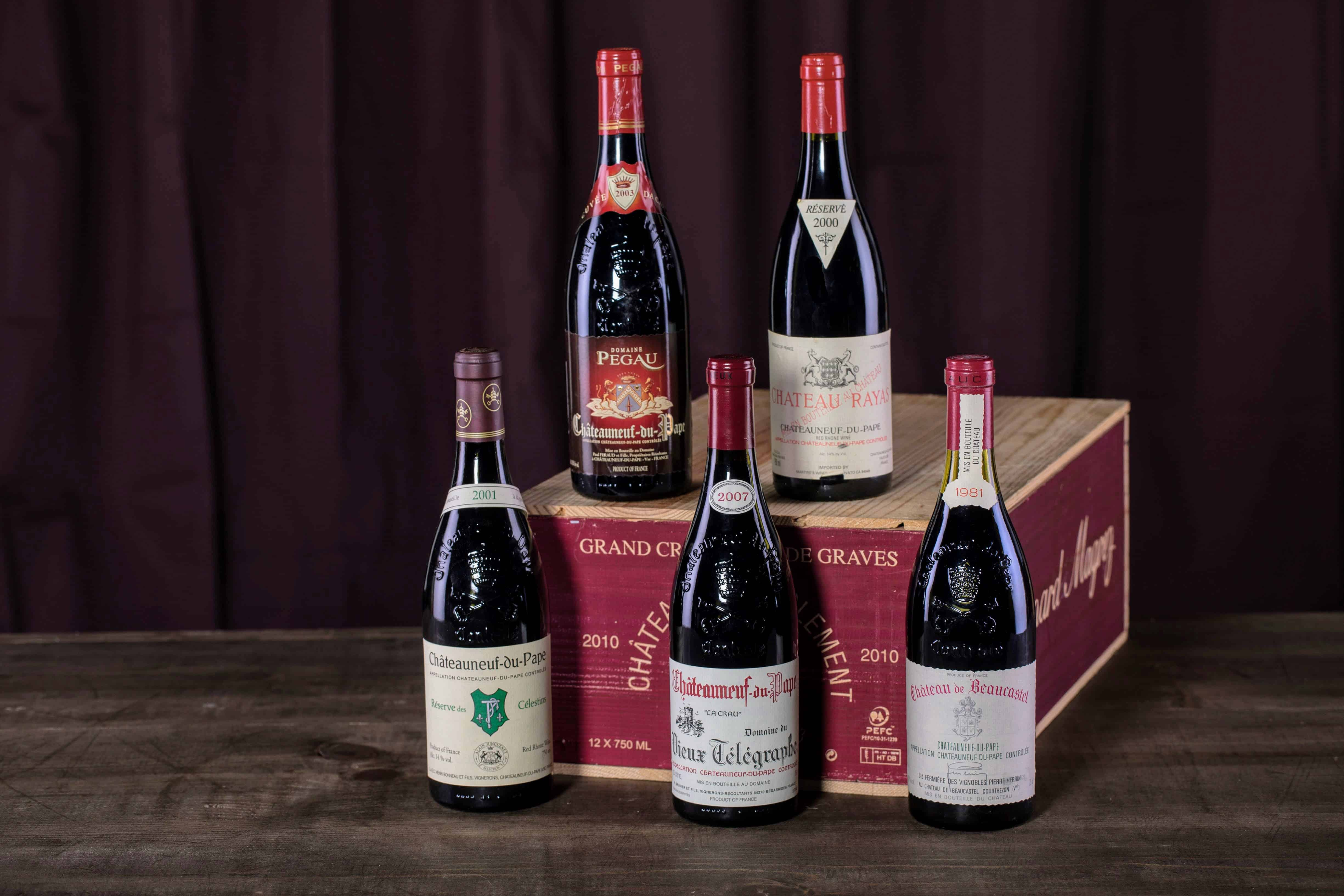 Some of the best Châteauneuf-du-Pape vintages made by iconic producers like Pegau.