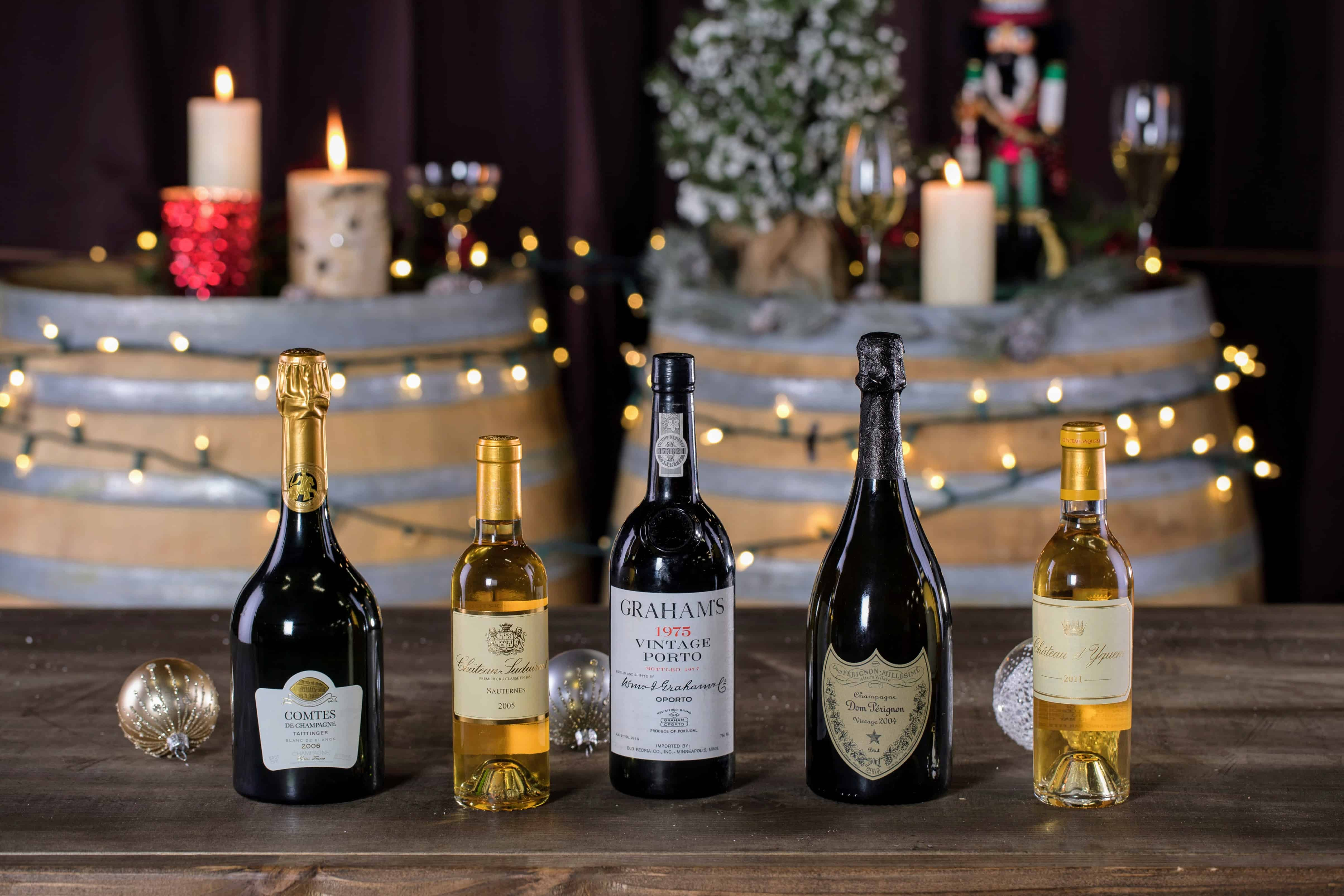 The best holiday wines of 2018 are Sauternes and Champagne.