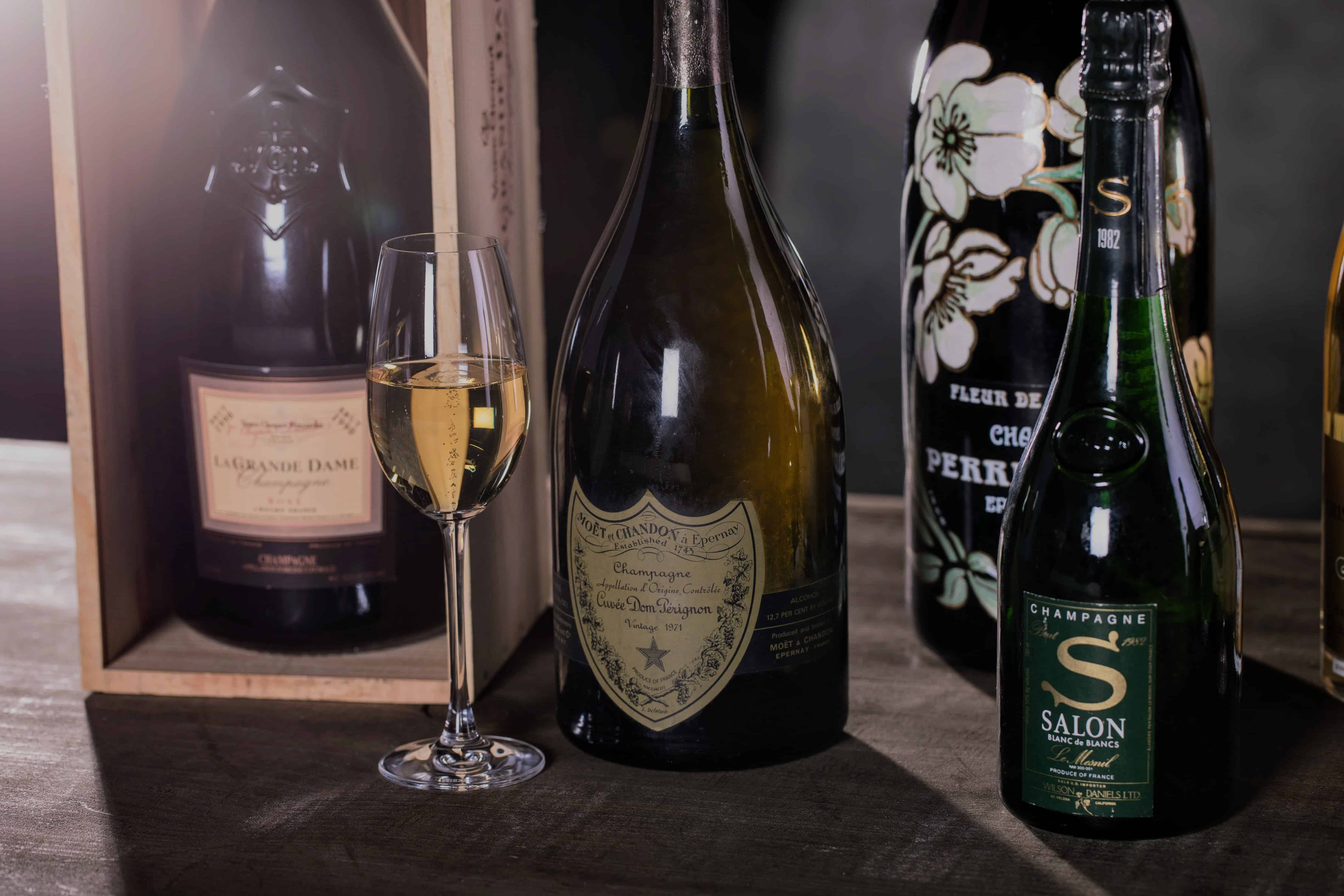 Some great wines for a Champagne gift basket.