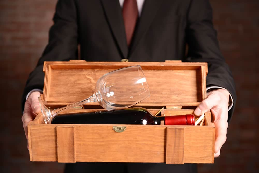 Giving wine as a corporate gift can be tricky.