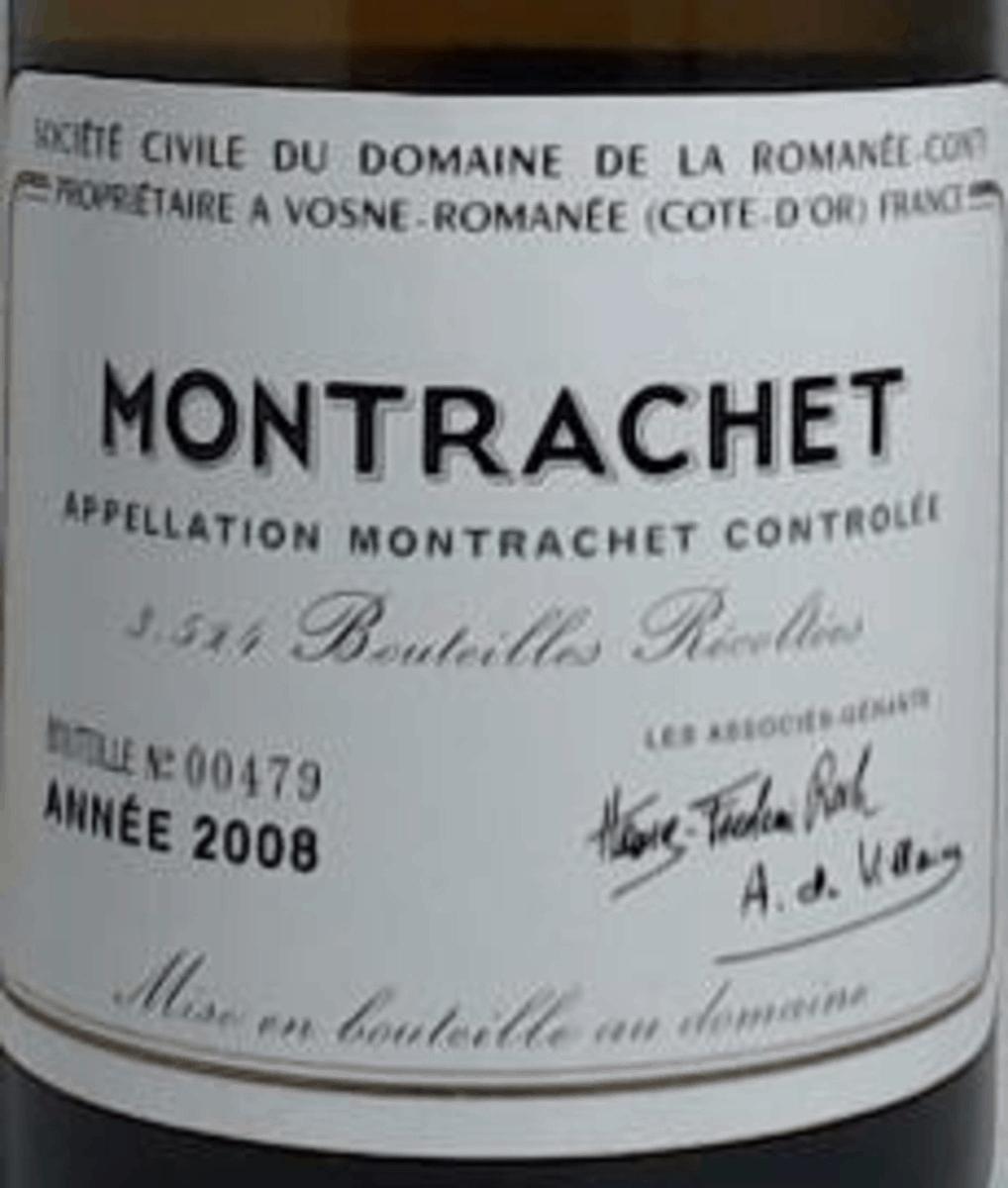 2008 Domaine de la Romanee-Conti Montrachet label