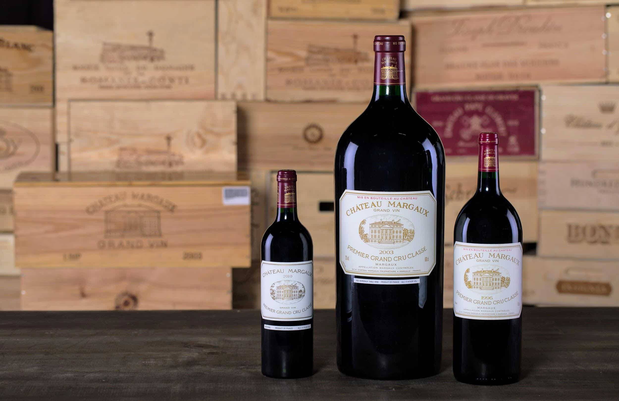 Three of the best vintages of Château Margaux