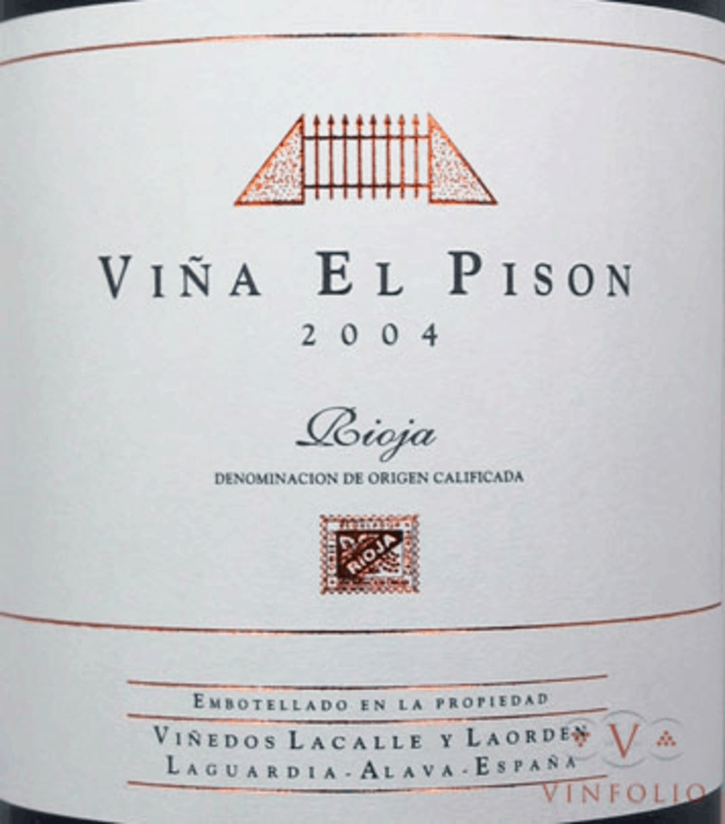 One of the top five wines from Spain is the 2004 Artadi Viña El Pison Reserva.