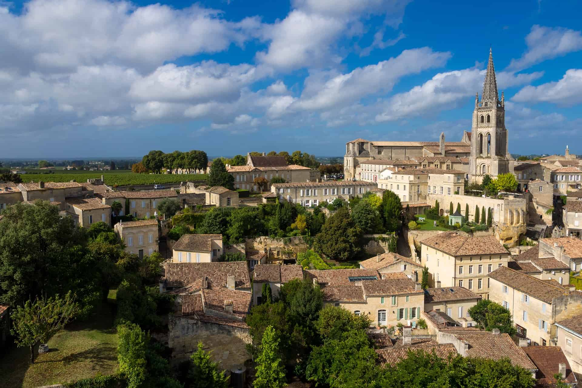 A town in the Saint-Emilion wine region