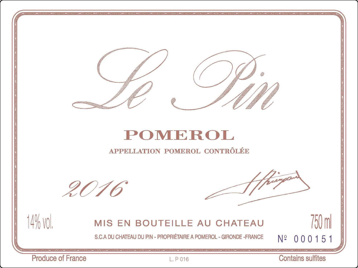 2016 is one of Château Le Pin's best vintages.