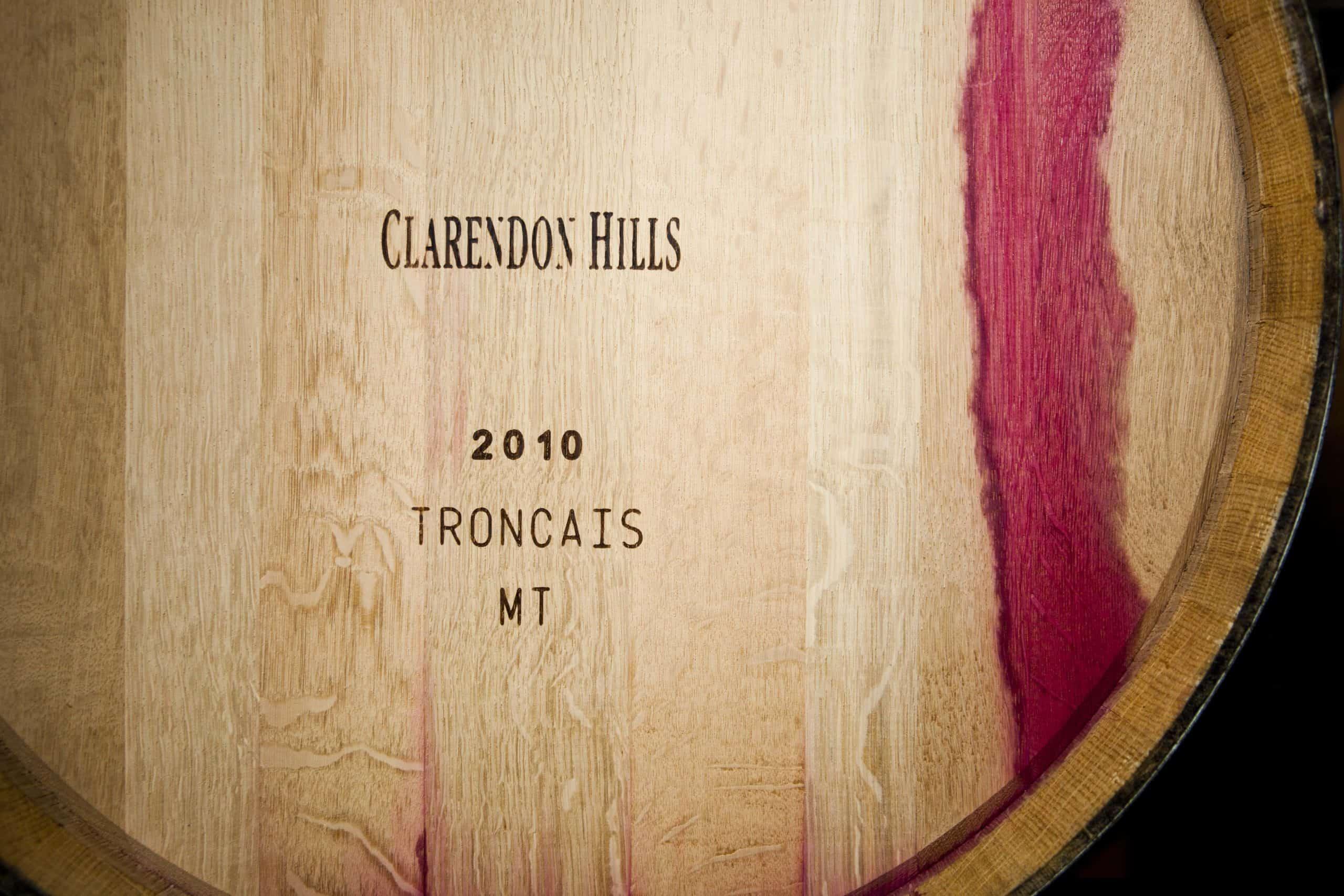 Clarendon Hills wine barrel for aging