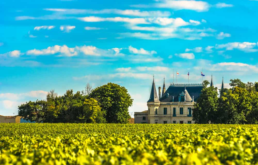 Chateau and vineyard in Margaux, Bordeaux,France