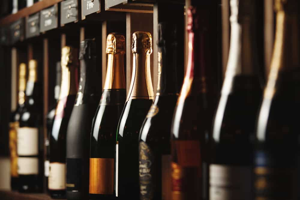Row of bottles of best investment wines 2021